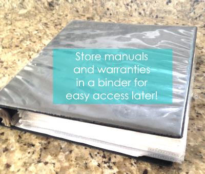 Manuals and Warranties