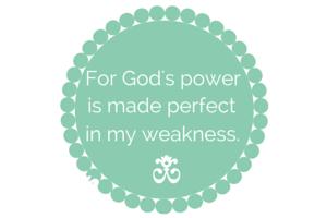 For God's power
